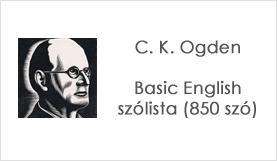 Ogden's Basic English szólista (850 szó)